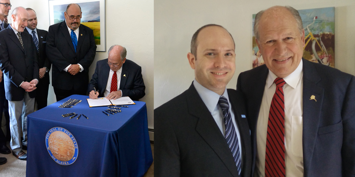 AK Gov Bill Walker and ACLU ED Joshua Decker